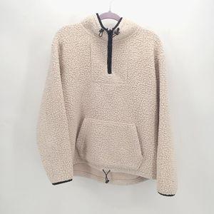 VS Pink Sherpa Quarter Zip Pullover